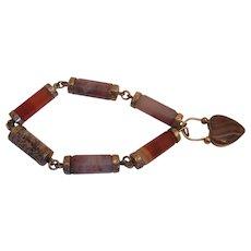 Rare Gold Scottish Victorian Agate Bracelet