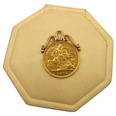 Victorian Half Sovereign Pendant/Fob