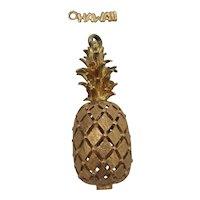 14K Hawaiian Pineapple Charm