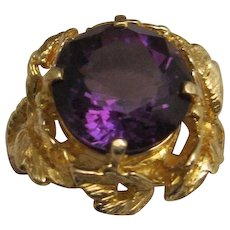 Lovely Vintage 18K Amethyst Ring