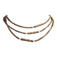 Rare 9K Victorian Muff Chain