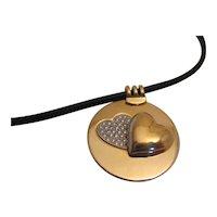 Mauboussin 18K and Diamond Heart Pendant