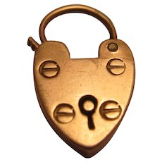 Very Small 9K Rose Gold Padlock Charm