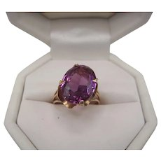 14K Synthetic Alexandrite Ring