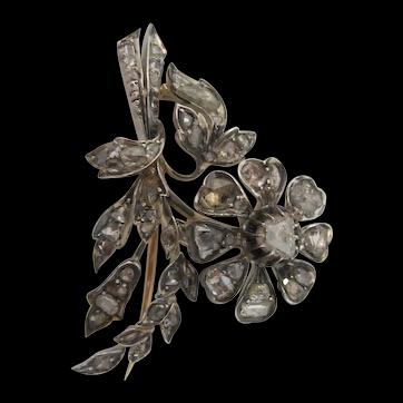 Victorian Rose Cut Diamond Brooch