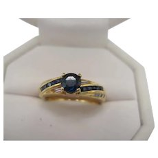 Birks 18K Sapphire and Diamond Ring