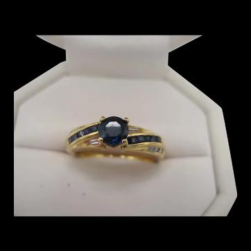 Birks 18K Sapphire and Diamond Ring