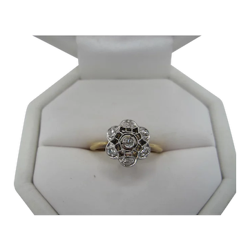 Sweet Antique 18K and Diamond Ring