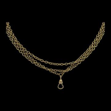 Long 14K Pocket Watch Chain