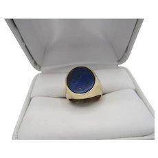 Handsome 14K Lapis Lazuli Ring