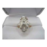 Lovely 14K Filigree Diamond Ring