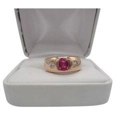 Hallmarked 14K Polish Rose Gold Ring