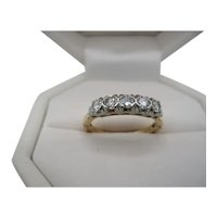 14/18K Five Across Diamond Ring
