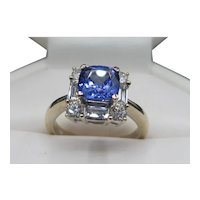 Gorgeous 18K Tanzanite Diamond Ring