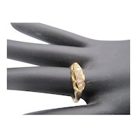18K Hallmarked Five-Stone Diamond Ring