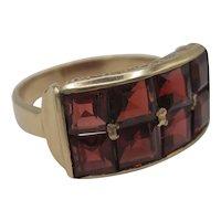 Handsome 14K Garnet Ring