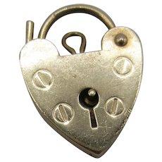 9K Gold Heart Padlock