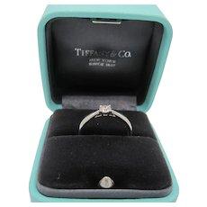 Tiffany Platinum and Diamond Ring