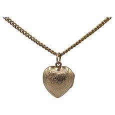 Sweet 10K Puffy Heart Locket