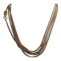 Handsome Long 9Kt Muff/Guard Chain