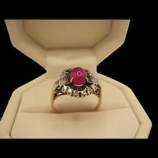 Sweet Star Ruby Diamond Ring