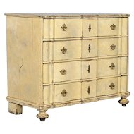 Antique 19th Century Baroque Chest of Drawers From Denmark, circa 1740-1760