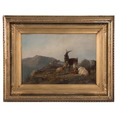 Antique 19th Century Oil Painting by Wilhelm Zillen