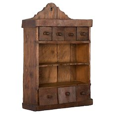 Antique Hungarian Spice Rack With Drawers