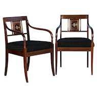 Pair of Antique Mahogany Armchairs