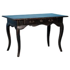 Antique 18th Century Baroque Side Table With Black Paint