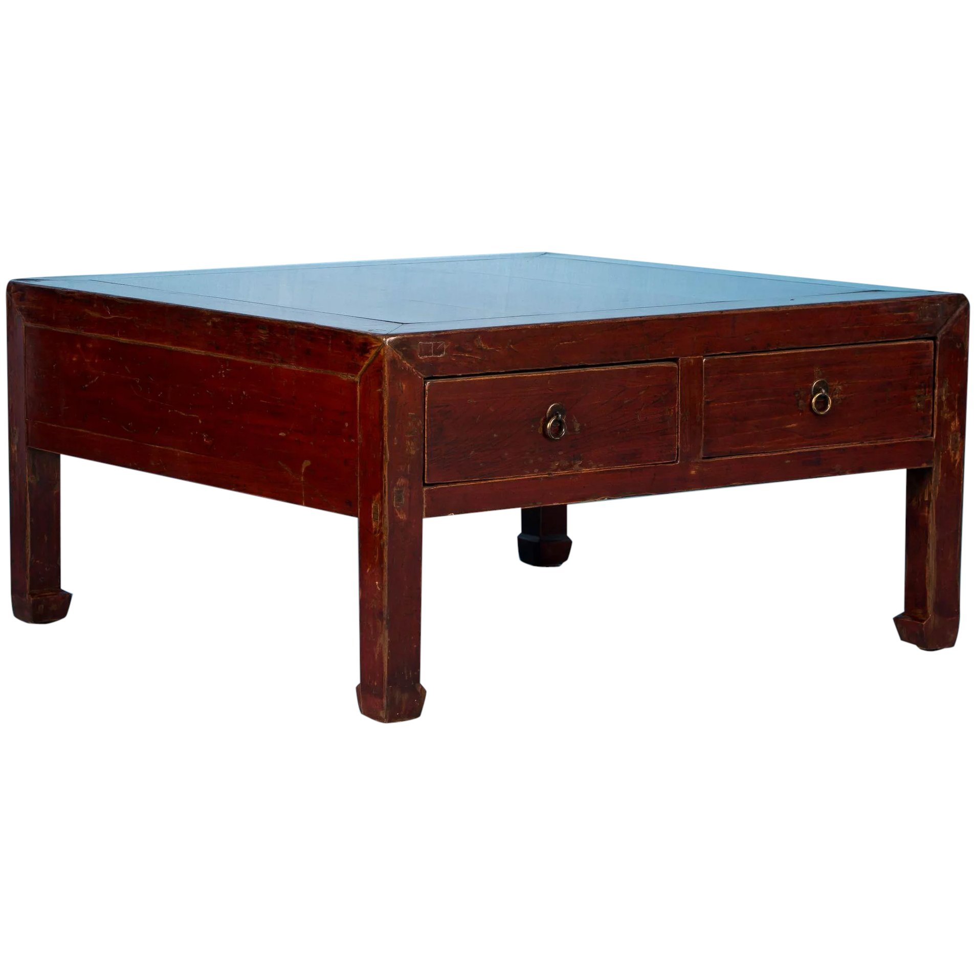 Antique Red Lacquered Chinese Coffee Table