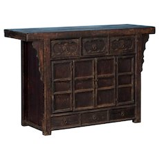 Antique 18th Century Lacquered Chinese Sideboard