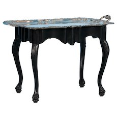 Antique Silver Plate Tray Table