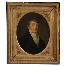 Antique Oil on Canvas Portrait of an 18th Century Gentleman