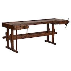 Antique Hungarian Carpenters' Workbench