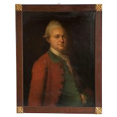 Antique Oil on Canvas Portrait of a 19th Century Nobleman