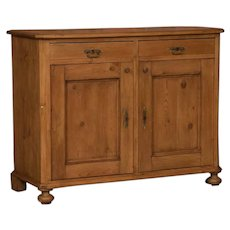 Small Antique Country Pine Sideboard