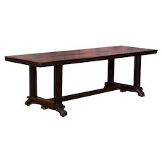 Antique Spanish Colonial Hardwood Table From The Philippines
