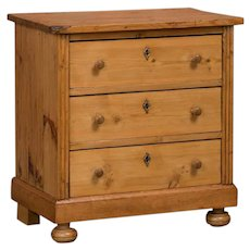 Small Antique Country Pine Chest of Drawers