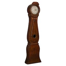 Antique Swedish Brown Mora Grandfather Clock, dated 1828