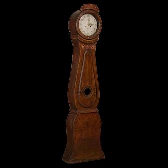 Antique Swedish Brown Mora Grandfather Clock, dated 1828