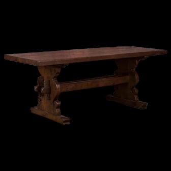 Antique Danish Oak Trestle Harvest / Dining Table