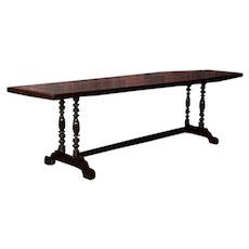Antique Spanish Colonial Hardwood Dining Table From The Philippines