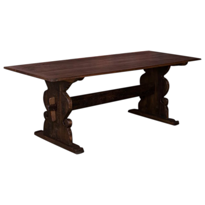 Country Pine Trestle Dining Table