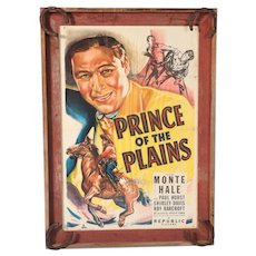 "Original Western Movie Poster of ""Prince of the Plains"", starring Monte Hale"