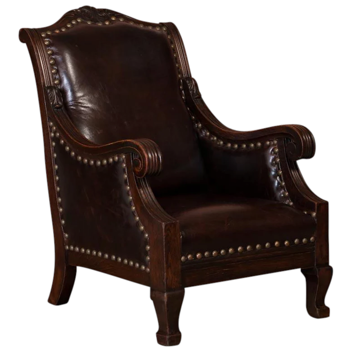 Carved Antique Danish Oak Arm Club Chair With Leather Upholstery Scandinavian Antiques And More Ruby Lane,Best Places To Travel In November 2020 Usa