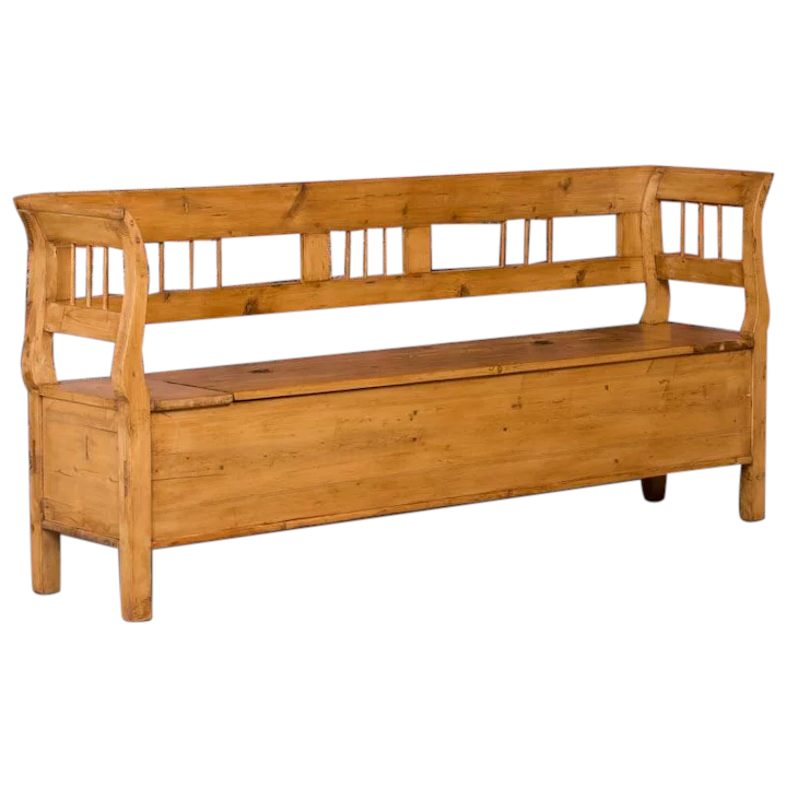 Awesome Antique Hungarian Country Pine Storage Bench Theyellowbook Wood Chair Design Ideas Theyellowbookinfo