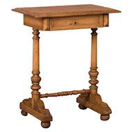Antique Danish Country Pine Side Table or Nightstand