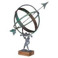 Antique Danish Garden Armillary / Sun Clock