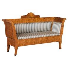 Antique 19th Century Swedish Birch Sofa Bench